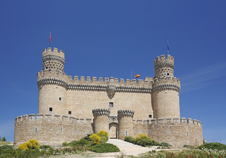 Castillo de Manzanares el Real, the Castle of the Manzanares el Real, Spain