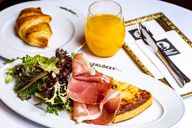 Quiche and pastry at Gerlóczy Café & Brasserie