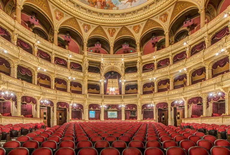 Interior of Hungarian State Opera House, Budapest, Hungary