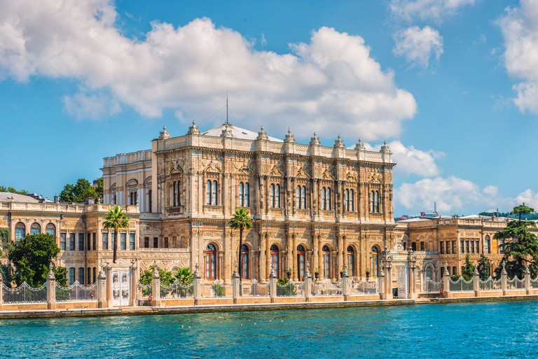 Dolmabahce Palace on the banks of the Bosphorus in Istanbul.