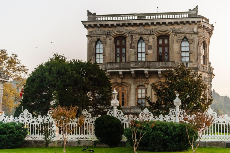 Kucuksu Pavilion which was built by Ottomans in Bosphorus, Istanbul