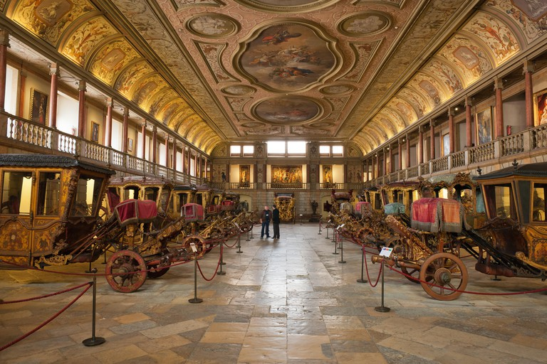 The Museu Nacional dos Coches has over 70 carriages in its collection