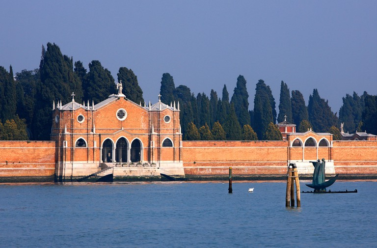 The San Michele island has been the city's main burial ground since 1807