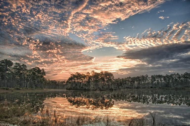 Dramatic skies over Everglades
