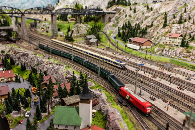 A visit inside the Miniatur Wunderland the largest model railway in the world Hamburg Northern Germany Europe