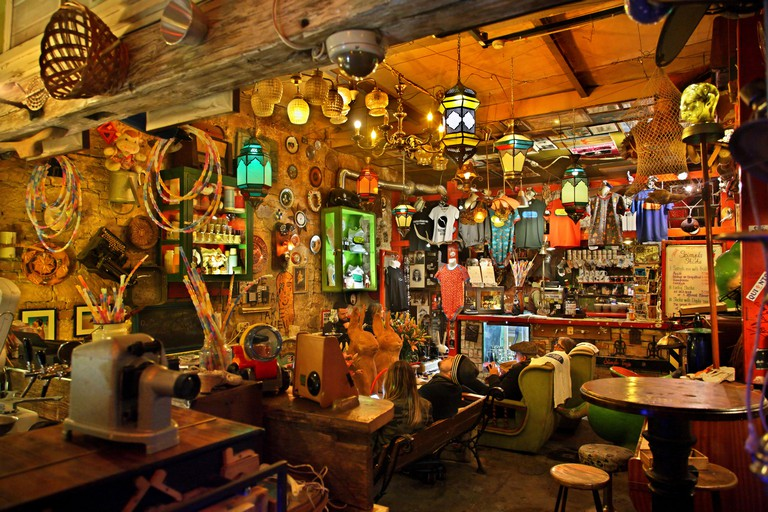 """The """"Szimpla Kert"""" one of the oldest and most famous """"Ruin-pubs"""" in Budapest, Hungary"""