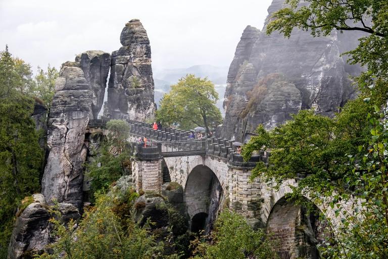 Nationalpark sachsische Schweiz Elbsandsteingebirge Bastei