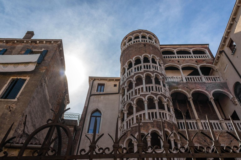 This unique palace is named after its snail-like 15th-century spiral staircase