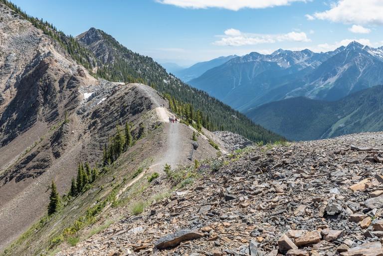 Terminator Ridge Mountain Top Hiking Trail at Golden, British Columbia, Canada