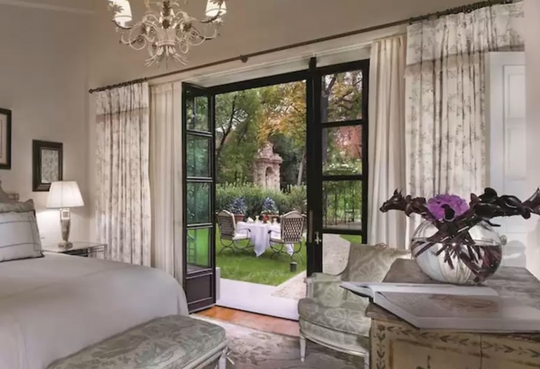A garden suite at the Four Seasons Hotel in Florence