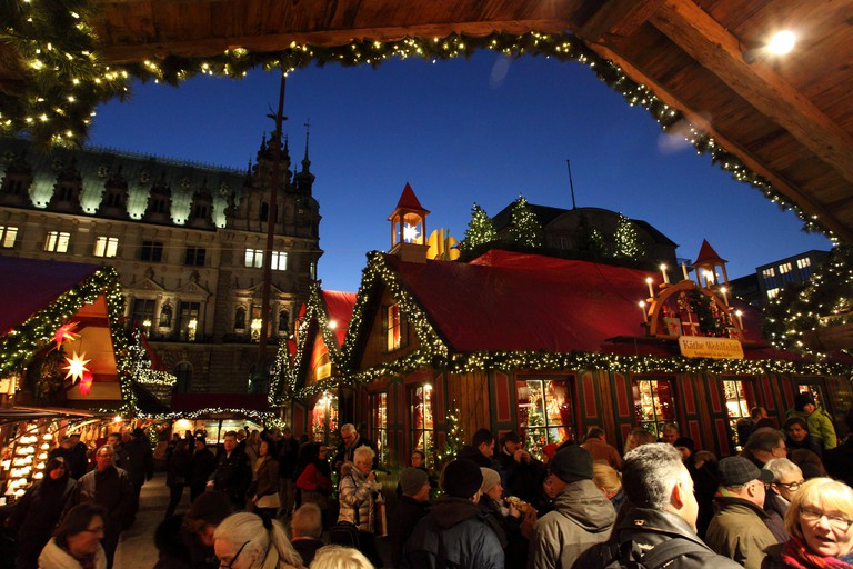 Christmas markets spring up across Hamburg in November and December