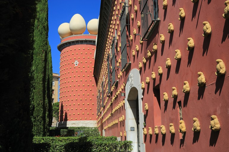 The stunning Dali Theatre-Museum, in Figueres, Catalonia.