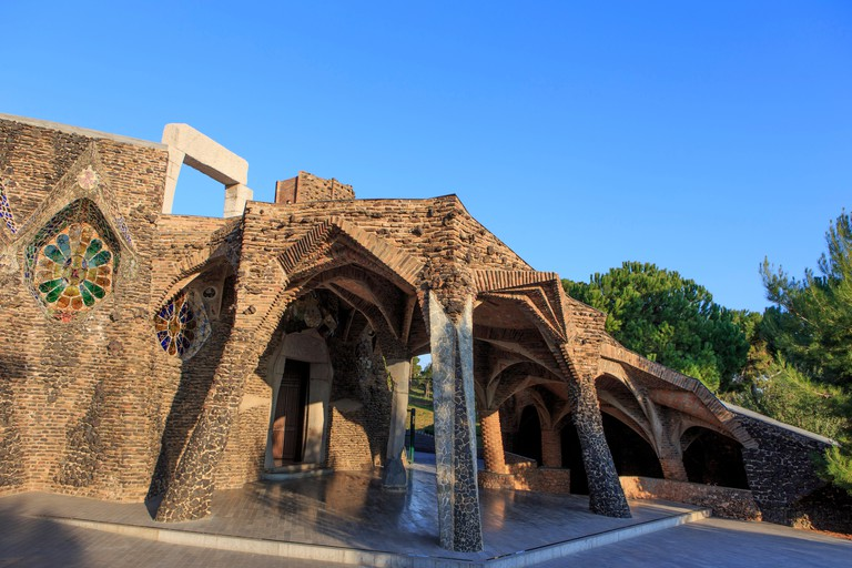 The Church of Colonia Guell designed by Antoni Gaudi