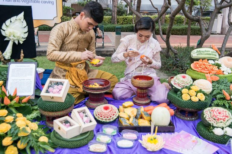 Try fruit carving in Bangkok
