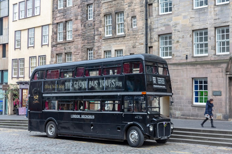 Double decker bus for Ghost Tours around Edinburgh