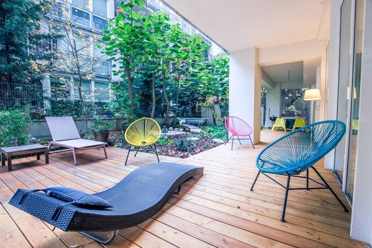 This Vienna loft has a spacious garden