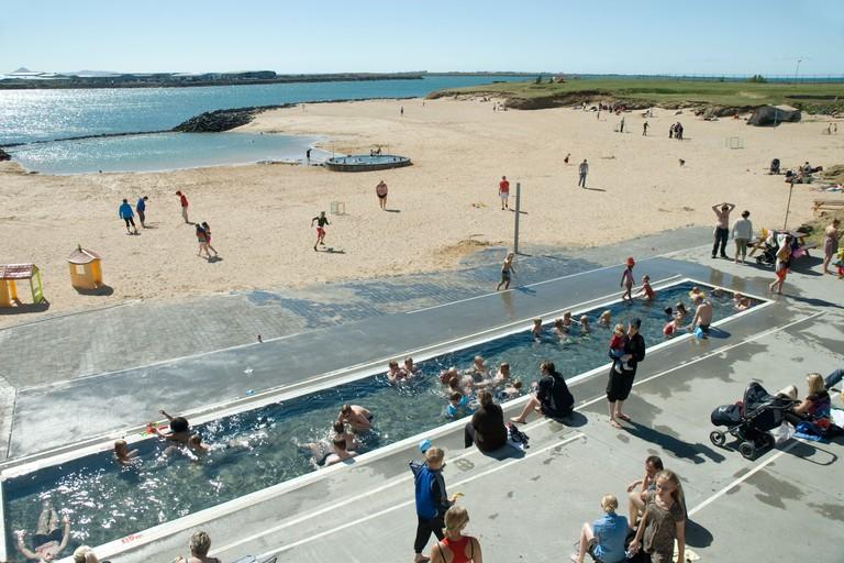 Take a dip at Nauthólsvík geothermal beach