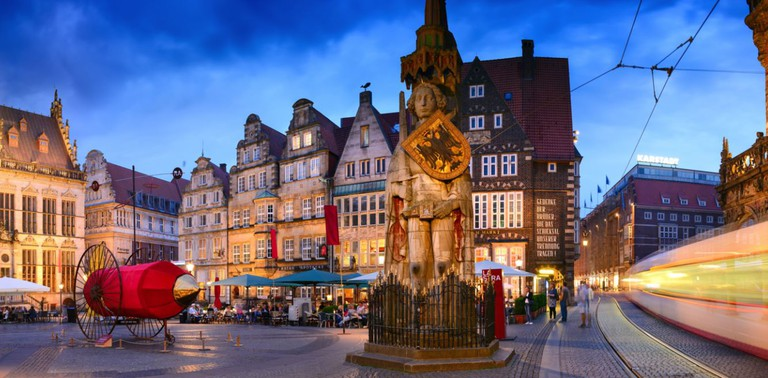 Bremen Market is the site of the old town hall and statue of military leader Roland