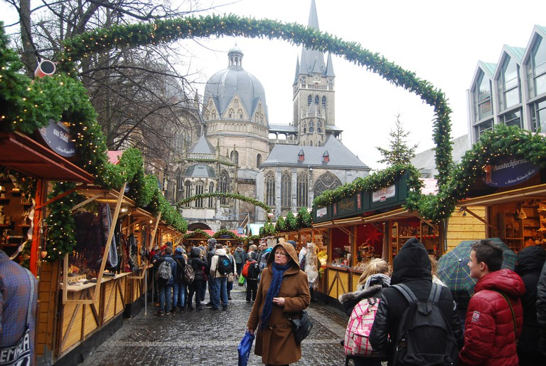 The spa city of Aachen turns into a winter wonderland in the run-up to Christmas