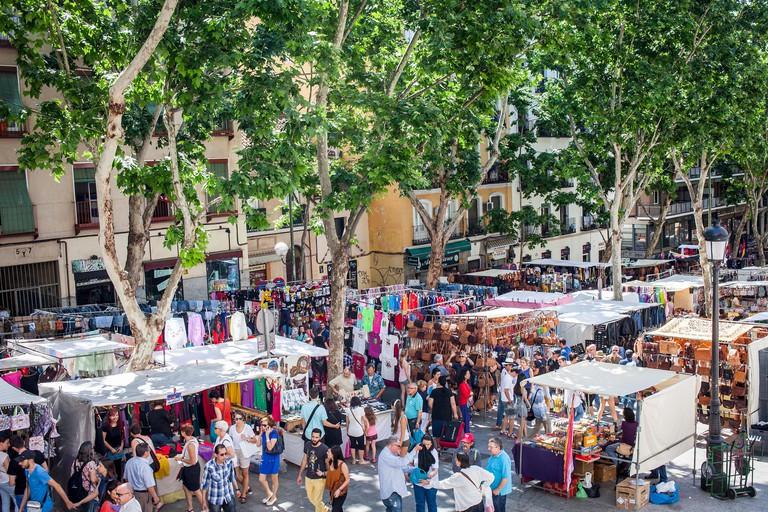Rastro flea market. Madrid, Spain.