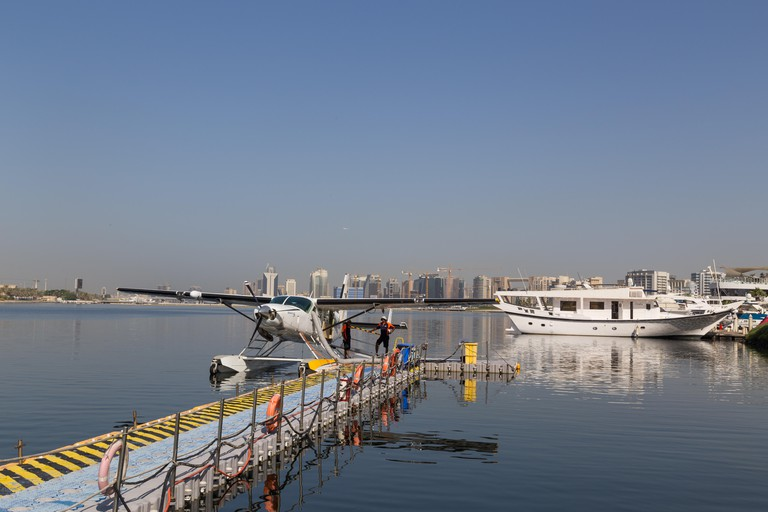 A Seaplane parked in Dubai