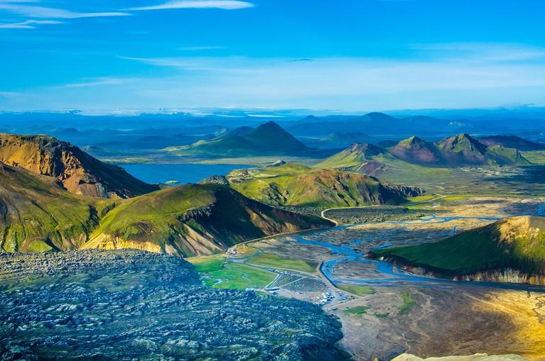 Lava Landmannalaugar - Amazing Landscape in Iceland