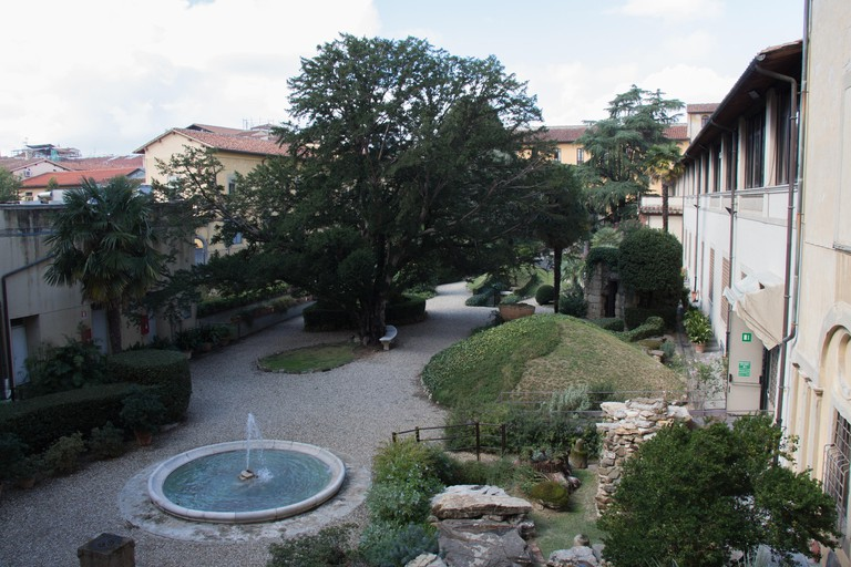 View of the inner courtyard of the National Archaeological Museum of Florence