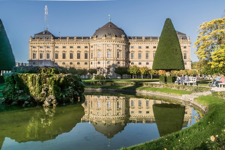 The Würzburg Residence was built in the 18th century and is surrounded by stunning landscapes