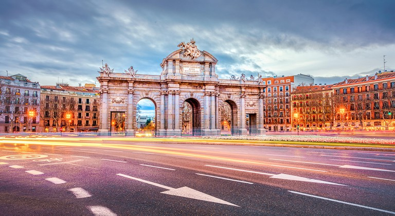 The Puerta de Alcalá that stands today was officially inaugurated in 1778
