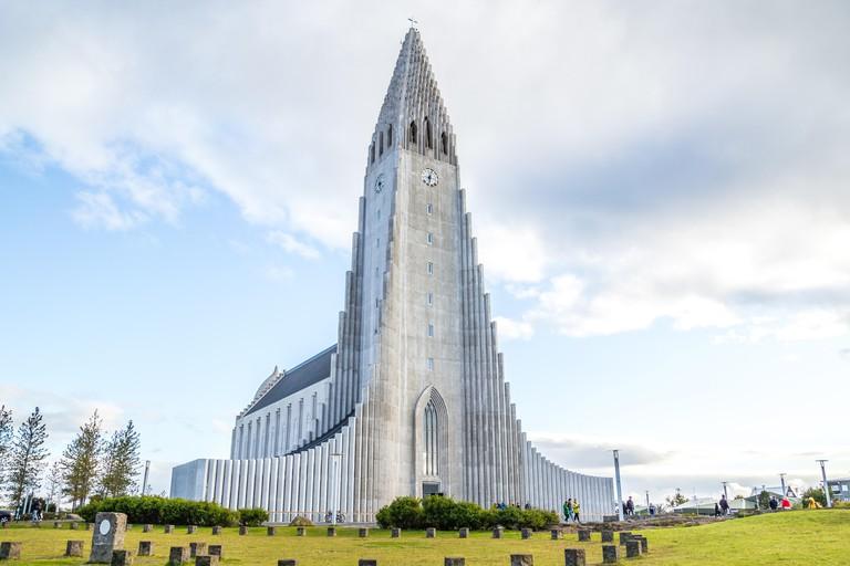 Hallgrímskirkja is the largest church in Reykjavik