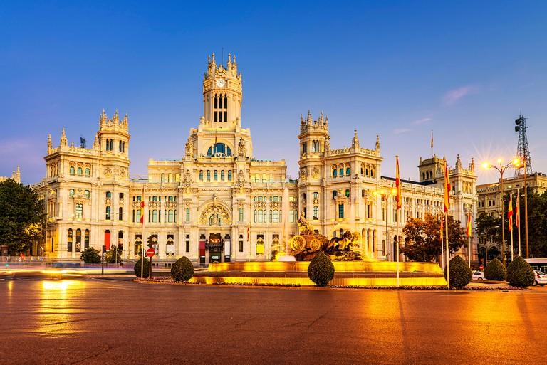 The Palacio de Cibeles is Madrid's city hall