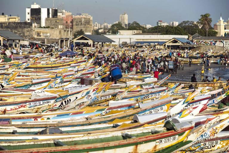 Soumbedioune fish market in Dakar