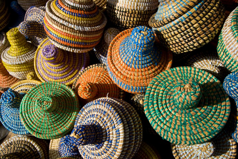Souvenir Baskets in the Market