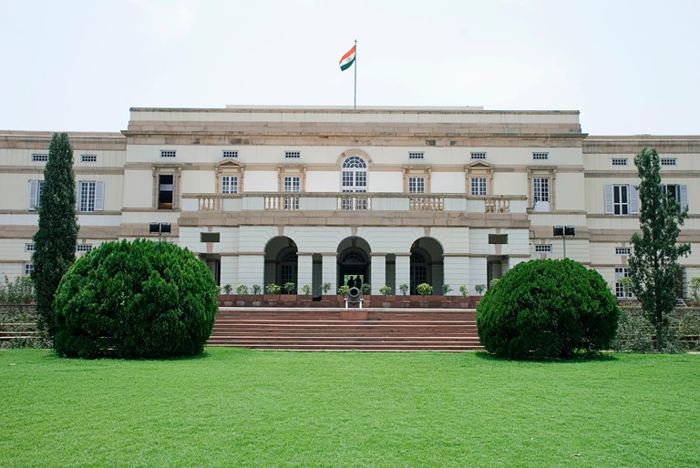 Teen Murti Bhavan, the former residence of the first Prime Minister of India, Jawaharlal Nehru where the Nehru Memorial Museum and Library is housed.