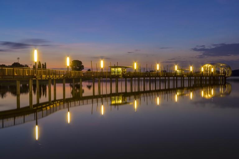 Daybreak at Lower Seletar Reservoir, Singapore