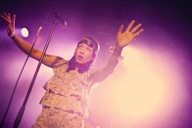 The Swedish band Little Dragon performs a live concert at Vega in Copenhagen
