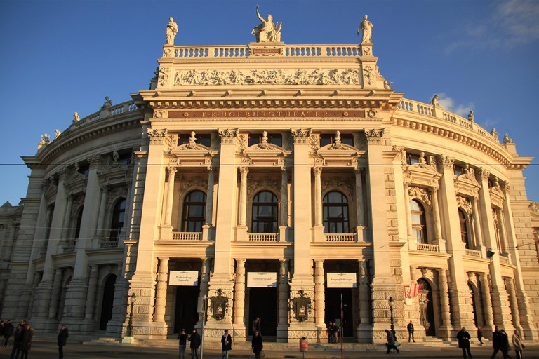 The Burgtheater (en: (Imperial) Court Theatre), originally known as K.K. Theater an der Burg, then until 1918 as the K.K. Hofburgtheater, is the Austrian National Theatre in Vienna and one of the most important German language theatres in the world. The B