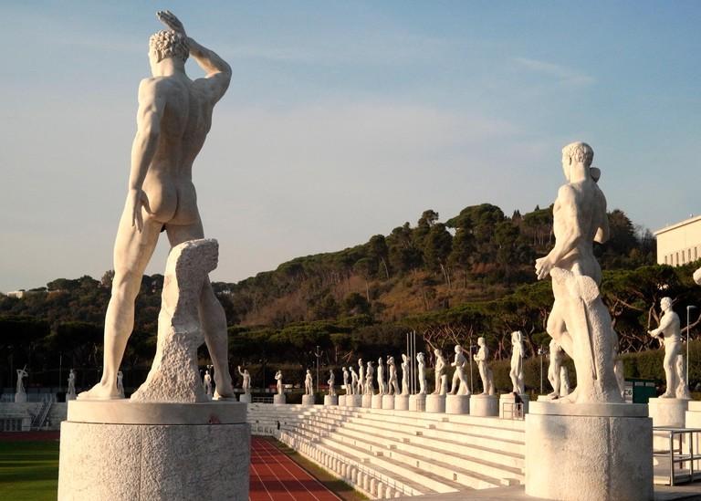 The Stadio dei Marmi feature 59 marble statues of athletes