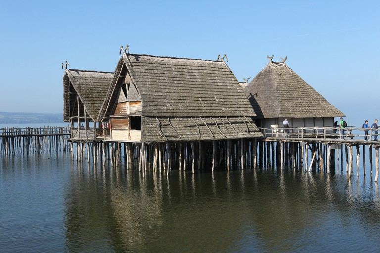 Stilt houses, Lake Constance, Baden-Wurttemberg, Germany.