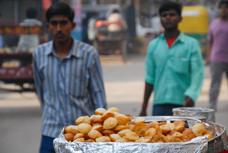 cookies for sale at street in delhi, india