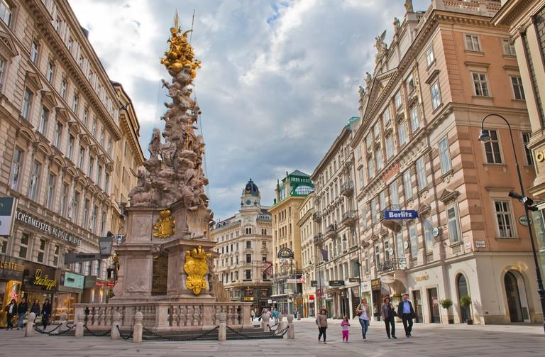 Pest Column, Graben street, Vienna, Austria, Europe