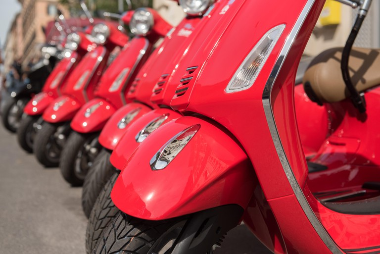 Ride around the hills of Florence on your very own (rented) Vespa