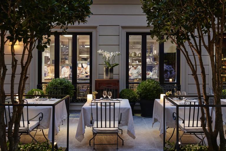 Antonio Guida's two-Michelin-star restaurant lies inside the Mandarin Oriental hotel