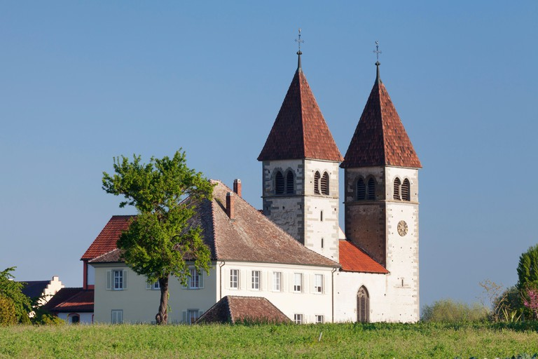 Abbey church St. Peter and Paul, Niederzell, UNESCO world cultural heritage, Baden-Wuerttemberg, Germany.