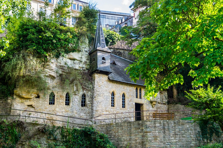 St. Quirin chapel, Gothic pilgrimage chapel, 14th. century, Luxembourg city, Grand Duchy of Luxembourg