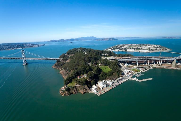 San Francisco Bay bridge and the Treasure Island