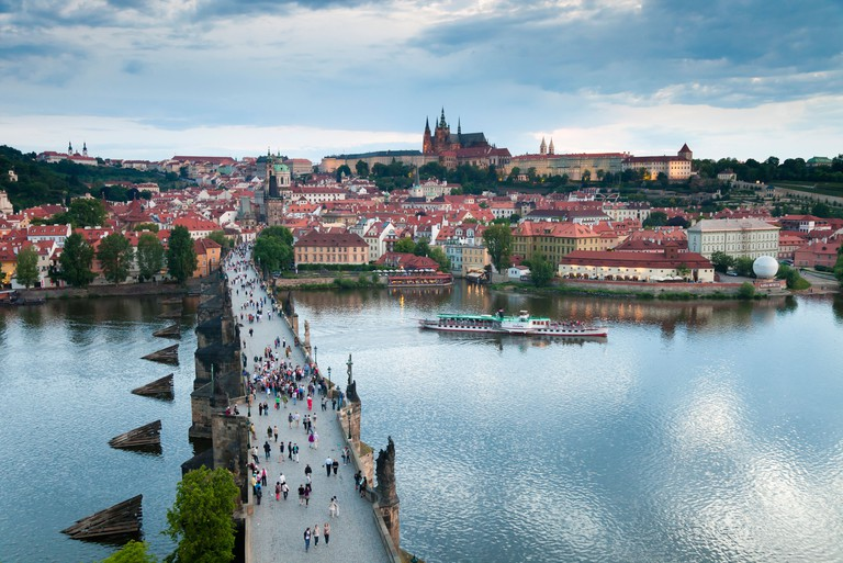 A cruise on the Vltava River offers fantastic views of the city, a UNESCO World Heritage Site