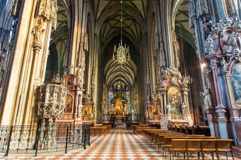 Austria, Vienna, St. Stephen's Cathedral. Image shot 2018. Exact date unknown.