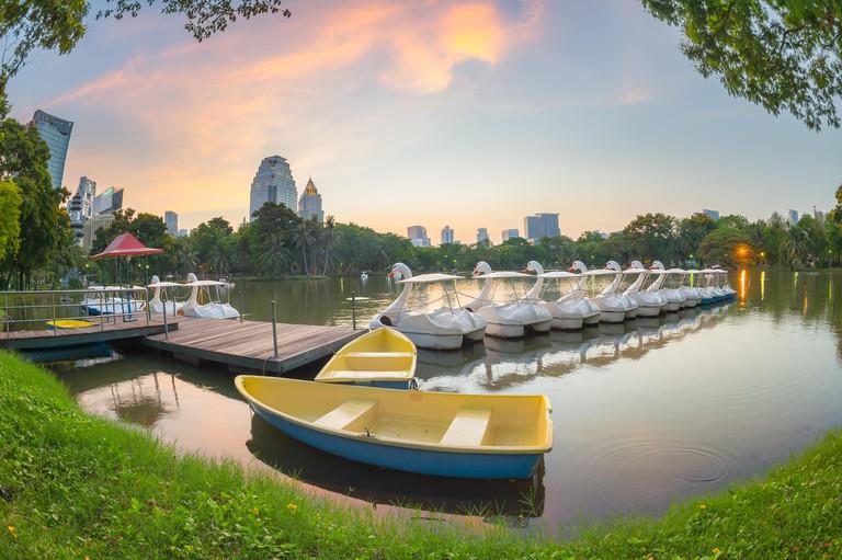 Swan boats, Lumphini Park