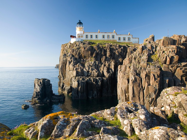 Clifftop lighthouse at Neist Point.